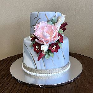 Picture of Marbled Fondant Cake