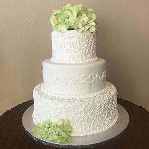 Picture of Standard Scrolling Wedding Cake