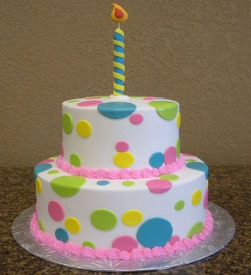 Picture of 1st Birthday Candle Cake