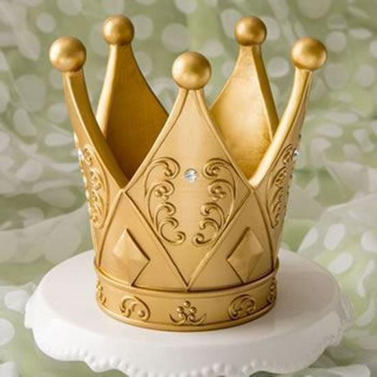 Picture of Gold Crown Birthday Cake Topper