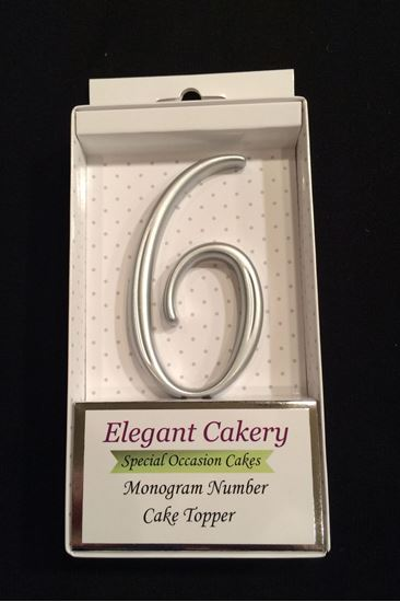 Picture of Number  6 Cake Topper - Silver