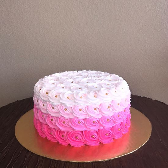 Picture of Pink Ombre Rosette Cake