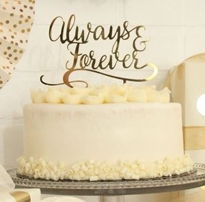 Picture of Always & Forever Cake Topper