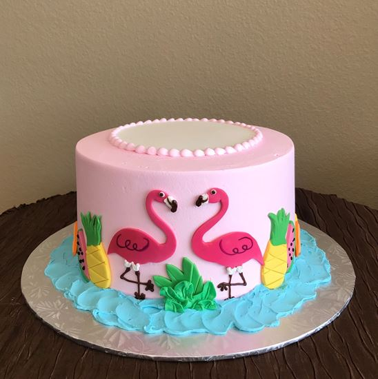 Picture of Flamingo Birthday Cake