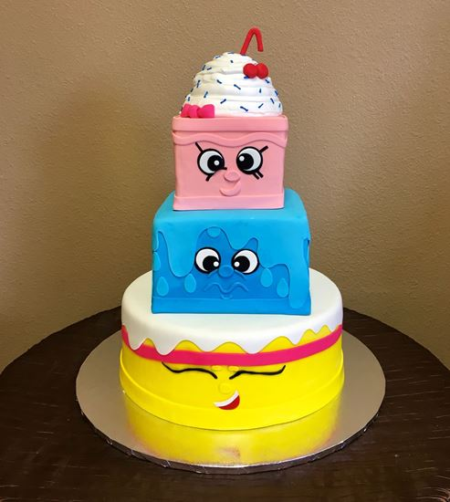 Picture of Shopkins Birthday Cake
