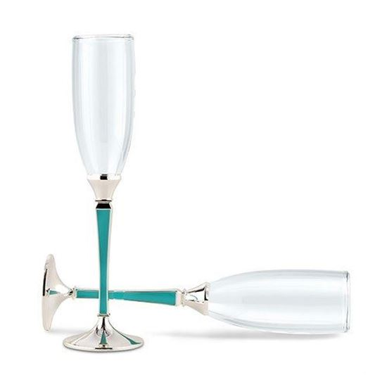 Picture of Something Blue Wedding Champagne Flutes