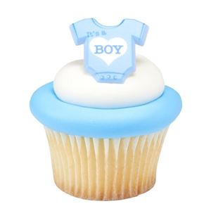 Picture of It's a Boy Onesie Cupcake Toppers