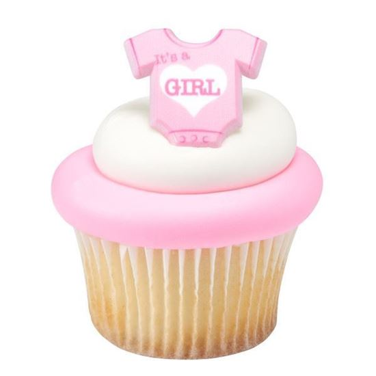 Picture of It's a Girl Onesie Cupcake Toppers