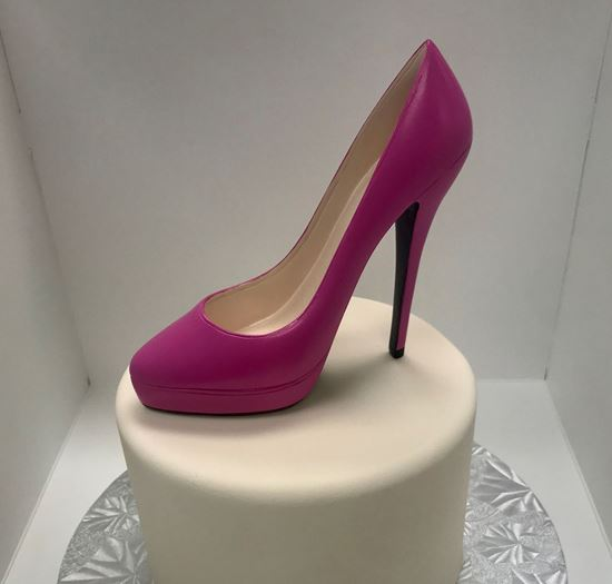 Picture of XL Pink High Heel Shoe Cake Topper