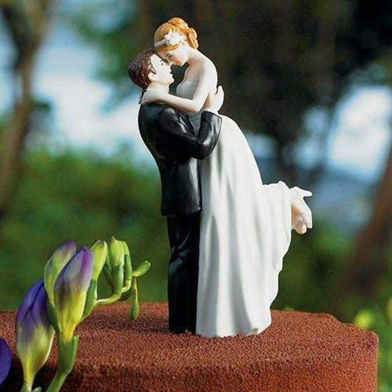 Picture of True Romance Couple Unique Wedding Cake Topper